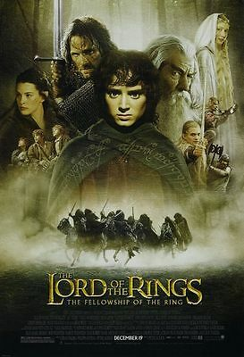 - Lord of the Rings Fellowship of the Ring - original movie poster 27x40