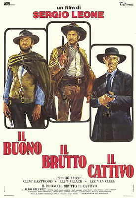 THE GOOD, THE BAD AND THE UGLY Movie Promo POSTER Italian