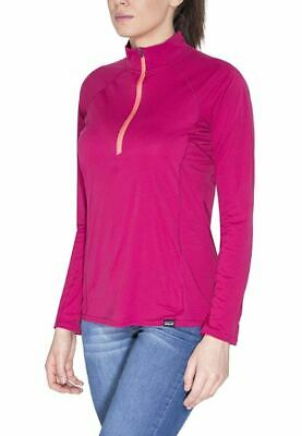 Patagonia Womens Capilene Lightweight Long Sleeve Base Layer Zip-Neck Craft Pink