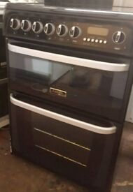 Hotpoint double oven ceramic electric cooker