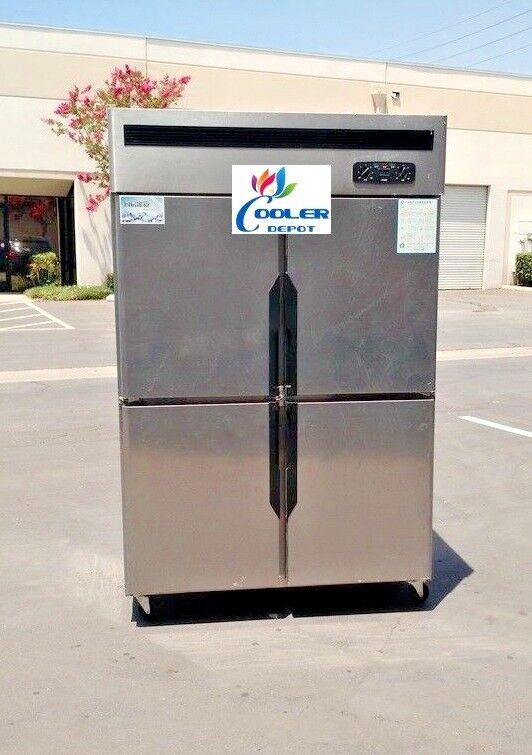 Four door Refrigerator Freezer R32 COMMERCIAL COOLER FREEZER