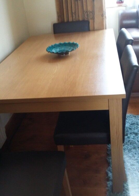 dining table with 6 chairs urgent sale before 31st july 2018 in