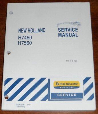 New Holland H7460 H7560 Discbine Mower Conditioner Service Manual