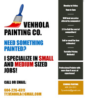 Professional Painter that specializes in SMALL to MEDIUM sized j