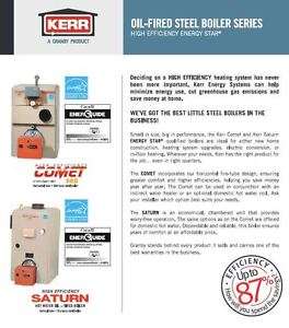 Kerr High Efficiency Comet 145 Oil Fired Steel Boiler for sale.