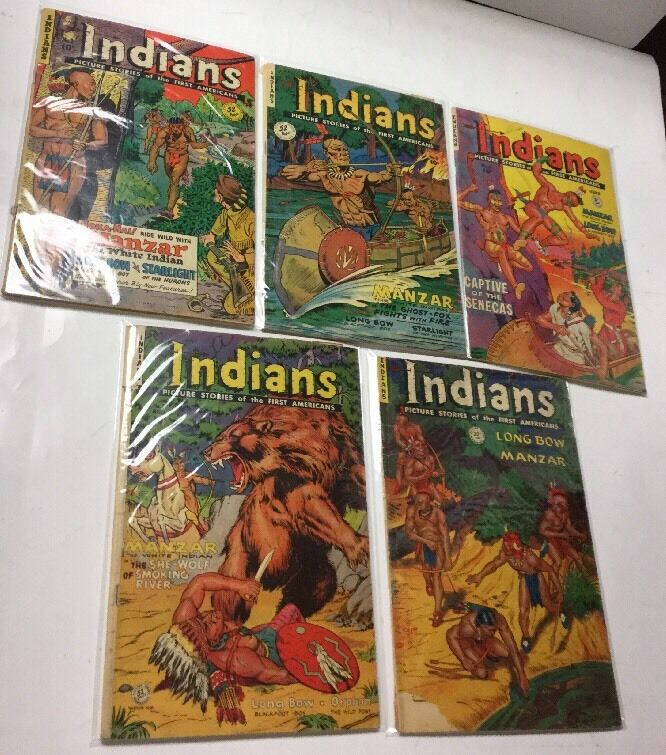 Indians Pictured Stories 2 3 6 7 9 10 15 17 Lot 2.0-4.0 Fiction House Magazine