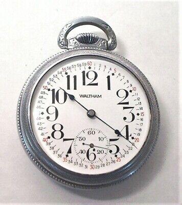 1900 WALTHAM MODEL 1892 VANGUARD 21 JEWEL ADJ 18S RR GRADE PW W/ MONTGOMERY DIAL