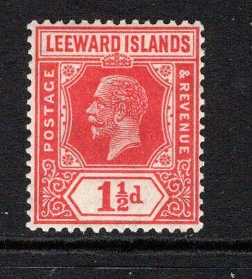 Leeward Islands KGV (Wmk Script) 1½d. Carmine Red SG63 LM/Mint