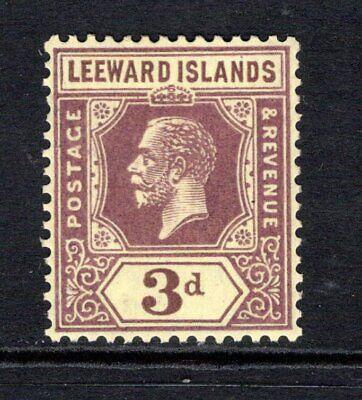Leeward Islands KGV (Wmk Script) 3d. Purple/Yellow SG69 LM/Mint