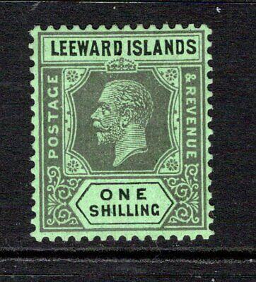 Leeward Islands KGV (Wmk Script) 1s. Black/Emerald SG73 M/Mint