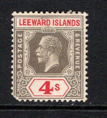 Leeward Islands KGV (Wmk Script) 4s. Black & Red SG77 LM/Mint