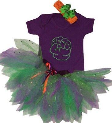 Neon Tutu Skirt 80s Fancy Dress Party Costume The Hulk Book Week Toddler Girls ()