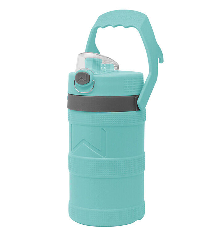 Insulated Water Bottle 128oz with Handle,  Aqua