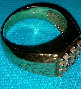 9Ct Solid Gold Ring.....Cubic Zirconia Blair Athol Campbelltown Area Preview