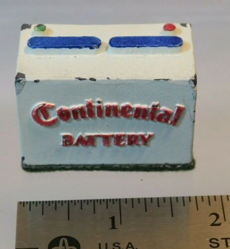Continental Battery Figural Metal Paperweight - 1960