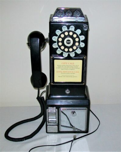 PAY TELEPHONE Replica - Push Button Wall Mounted WORKS!