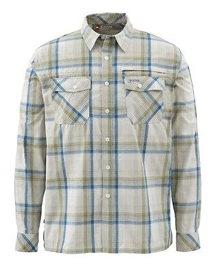 Simms Kenai Long Sleeve Shirt ~ Ink Plaid NEW ~ Size Small ~ CLOSEOUT