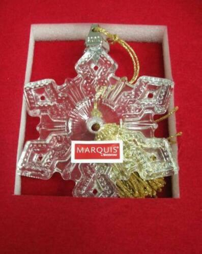 WATERFORD MARQUIS $30 Lead Crystal 2010 Annual Snowflake Christmas Ornament NIB