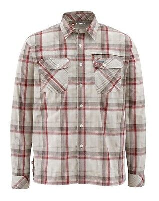 Simms KENAI Long Sleeve Shirt ~Ruby Plaid NEW ~ Size Large ~ CLOSEOUT