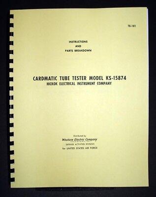 Hickok Cardmatic We Ks-15874 Tube Tester Manual