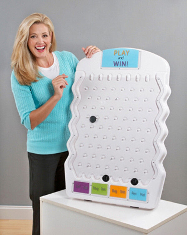 White Mini Prize Drop Tradeshow Plinko Board Game