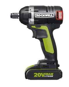 Rockwell 20V Max Li-Ion Brushless Cordless Impact Wrench, 1/2-in