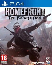 homefront - the revolution , ps4 , as new ! price stands , no offers ! willing to post !