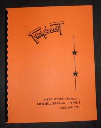 Triplett Tube Tester 3444-A Type 1 Manual Tube Data