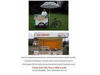 Ice cream bike & Donut trailer