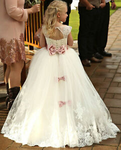 Fairytale-Like Flower Girl Gown with Train