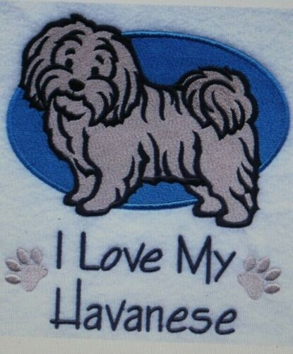 Love My Havanese Dog Embroidered Personalized Tee Shirt ALL SIZES