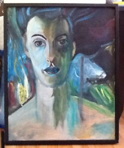 PAINTINGS $10 - $70 also NUMBERED PRINT  BLACK FRAMED LADY 25.5""