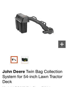 """54"""" John Deere Brand New Twin Bag Collection System"""