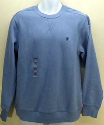 Izod Men's Sueded Fleece Crewneck Sweat Shirt Pullover Colony Blue Size XL