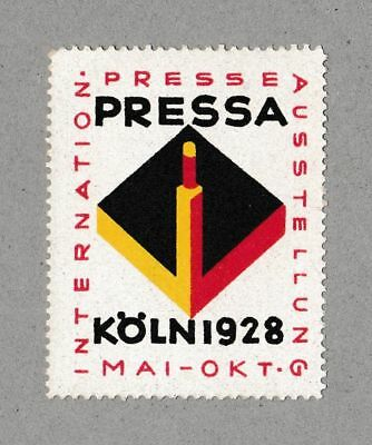 Poster Stamp International Press Expo 1928 Modernist Design Typography BAUHAUS