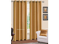 Gold Lined Curtains