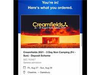 Creamfeilds tickets