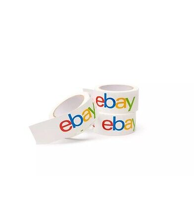4 Rolls Ebay Brand Packaging Tape-2x75 Yards-shipping Sealing Packing Box Bopp
