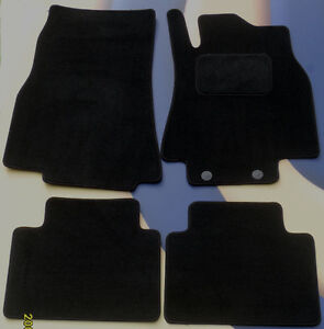 MERCEDES BENZ B CLASS 2005 to 2012  BLACK QUALITY CAR FLOOR MATS WITH CLIPS