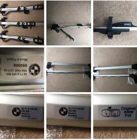 BMW F10 Roof Bars And Three Cycle Carriers With Keys
