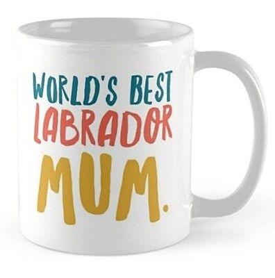 Labrador mug cup gift present for Lovers of Labradors. Black Yellow Chocolate
