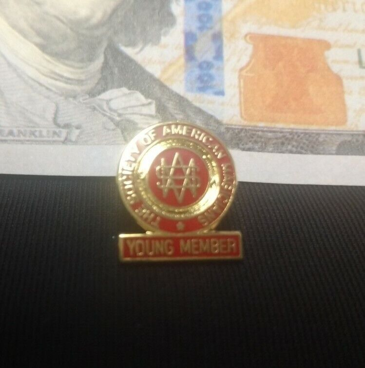 Society of American Magicians SAM Junior Pin Back Pinback Lapel Pin