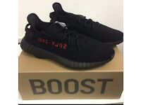 Yeezy Boost 350 V2 Black/Red All sizes available