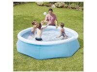 Free 8ft Carousel easy up paddling pool brand new