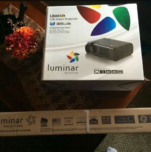 "luminar Projector with 72"" remote screen"