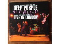 Deep Purple Live In London 2007 Double 180gram Vinyl. Mint. Rare