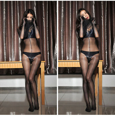 565dae57eca Sexy Shiny 1D Full Body Stockings Bodyhose Sheer Catsuit Bodysuit W Gloves  Mask