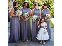 Dressy Charcoal Grey Prom/Bridesmaid dresses x 4