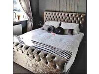 Velvet sleigh bed frames free delivery!! 🚚
