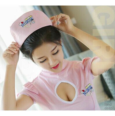 Women Sexy Lingerie Uniform Fancy Dress Nurse Costume Cosplay Outfit Open Bust 1